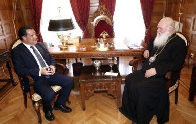 Στον Αρχιεπίσκοπο ο Υπουργός Ανάπτυξης Άδωνις Γεωργιάδης