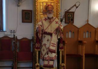 Ο Μητροπολίτης Αρκαλοχωρίου στο Ναό του Αγίου Σάββα Παλαιάς Λευκωσίας