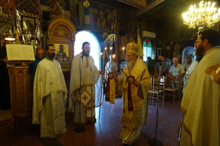 Αρχιερατική Θεία Λειτουργία στον Ι. Ναό Αγ. Φανουρίου Λουτρακίου