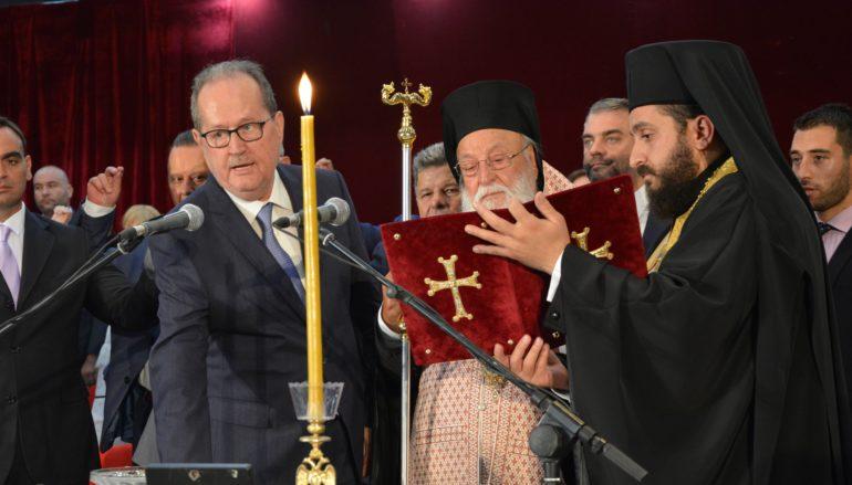 Ο Μητροπολίτης Μαντινείας όρκισε τον Περιφερειάρχη Πελοποννήσου