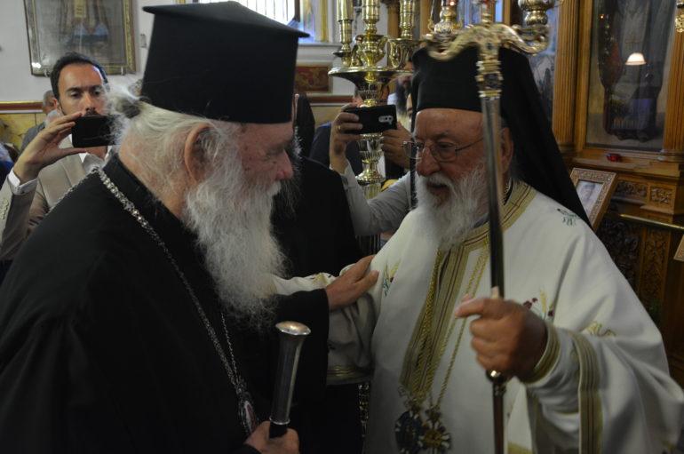 Ο Αρχιεπίσκοπος στα Ονομαστήρια του Μητροπολίτη Μαντινείας