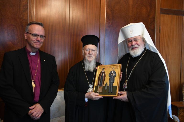 Ο Αρχιεπίσκοπος της Ορθοδόξου Αυτονόμου Εκκλησίας της Φιλλανδίας στο Οικ. Πατριαρχείο