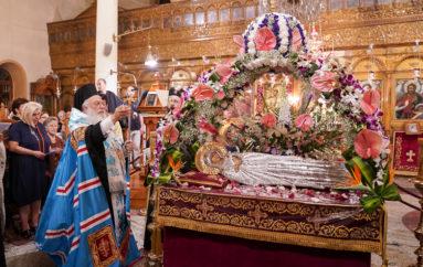 Ο Επιτάφιος της Παναγίας στην Ι. Μητρόπολη Βεροίας