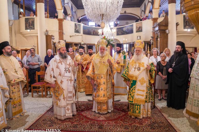 Αρχιερατικό Συλλείτουργο για τον Πολιούχο της Νάουσας Όσιο Θεοφάνη