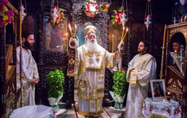 Με λαμπρότητα πανηγύρισε η Ιερά Μονή Παναγίας Αγάθωνος