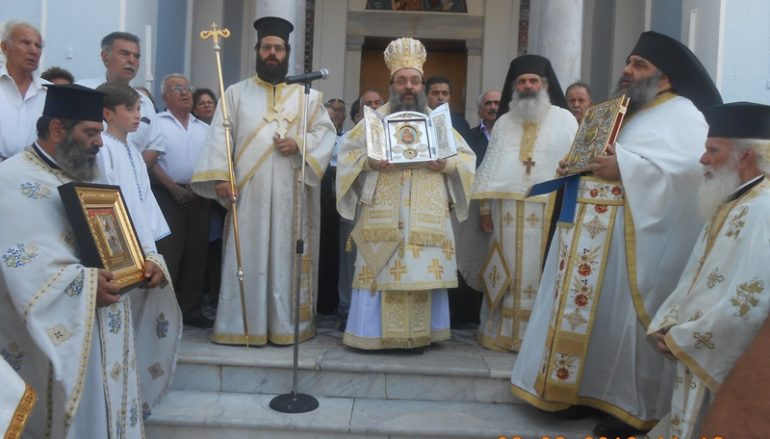 Η Χίος υποδέχθηκε λείψανο του Προδρόμου από την Ι. Μονή Παναγίας Κύκκου