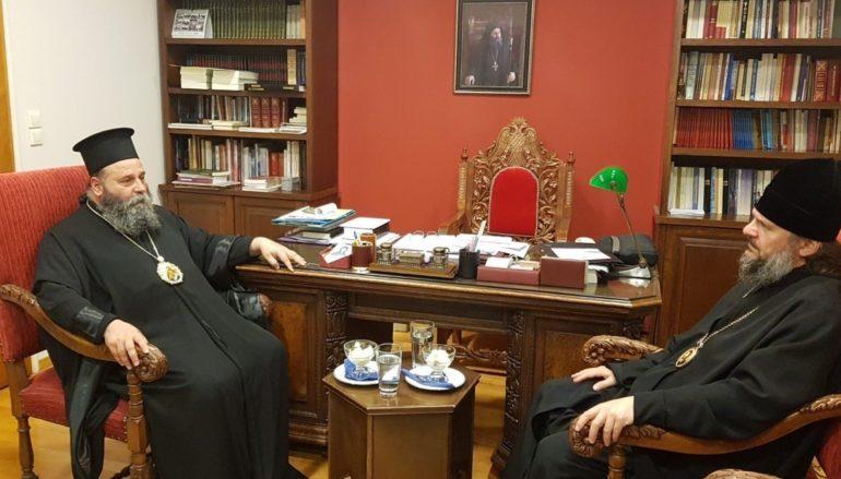 Ο Αρχιεπίσκοπος Βερέγιας στον Μητροπολίτη Ιωαννίνων