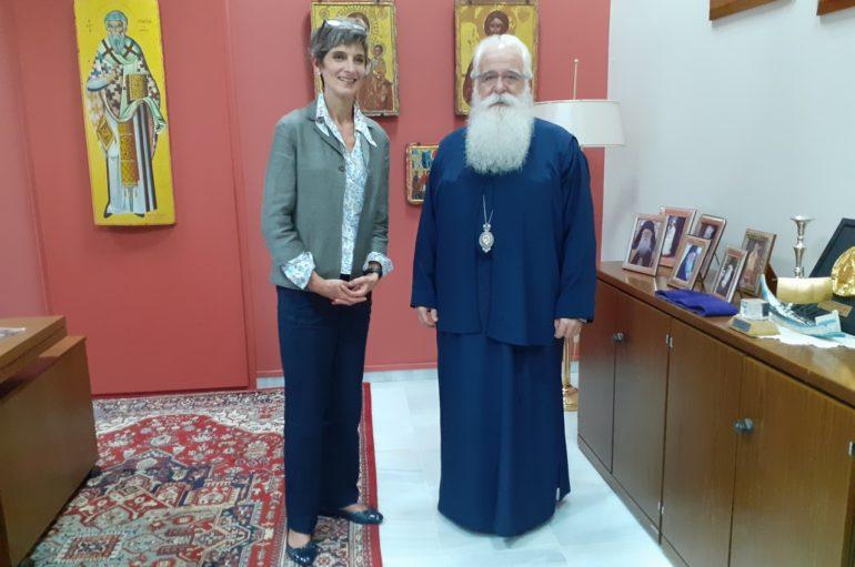 Επίσκεψη της Βρετανίδας Πρέσβειρας στον Μητροπολίτη Δημητριάδος