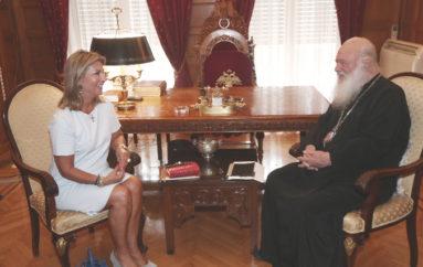 Συνάντηση Αρχιεπισκόπου με την Βουλευτή Ζέτα Μακρή