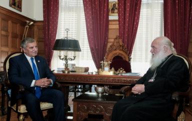 Συνάντηση του Αρχιεπισκόπου με τον Περιφερειάρχη Αττικής