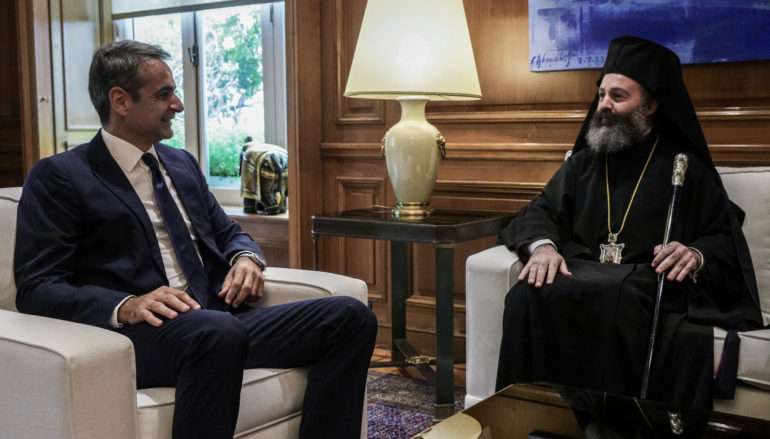 Ο Αρχιεπίσκοπος Αυστραλίας στον Πρωθυπουργό Κυριάκο Μητσοτάκη