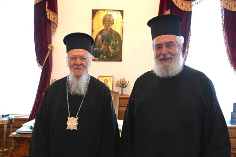 Στον Οικ. Πατριάρχη ο Μητροπολίτης Φωκίδος Θεόκτιστος