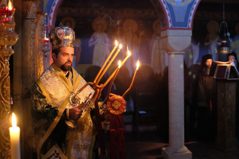 Αγρυπνία στην Ι. Μονή Κοιμήσεως της Θεοτόκου στις Γαλλικές Άλπεις