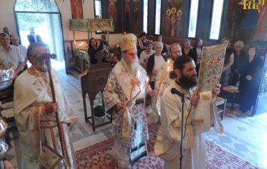 Αρχιερατική Θ. Λειτουργία στον Ι. Ναό Αγίου Μάμαντος στα Κανάλια Μεσοπύργου