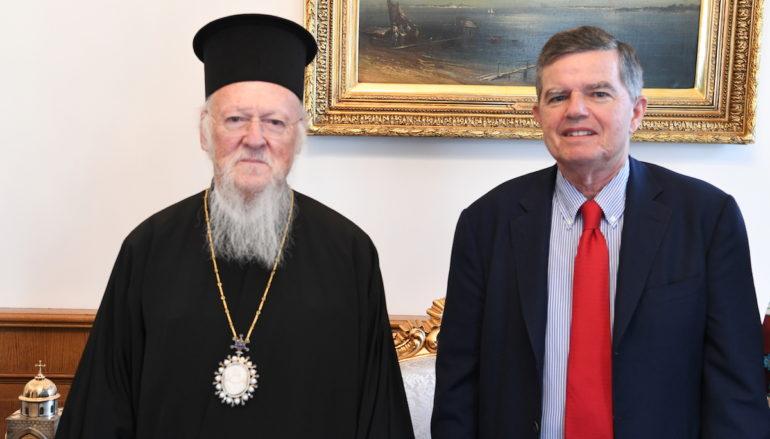 Ο νέος Πολιτικός Διοικητής του Αγίου Όρους στον Οικ. Πατριάρχη