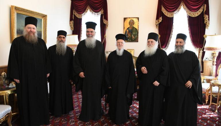 Στον Οικ. Πατριάρχη ο Καθηγούμενος της Ι. Μονής Βατοπαιδίου