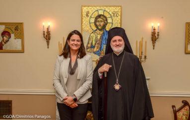 Η Υπουργός Παιδείας στον Αρχιεπίσκοπο Αμερικής Ελπιδοφόρο
