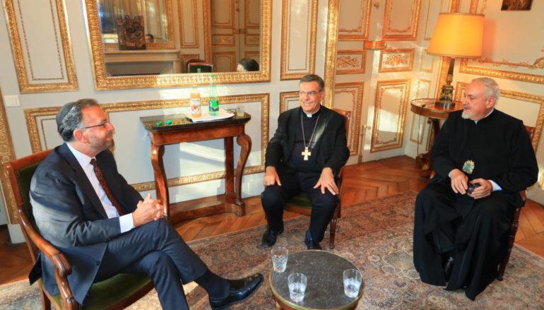 Συνάντηση του Μητροπολίτη Γαλλίας με τον Ρωμαιοκαθολικό Αρχιεπίσκοπο Παρισίων