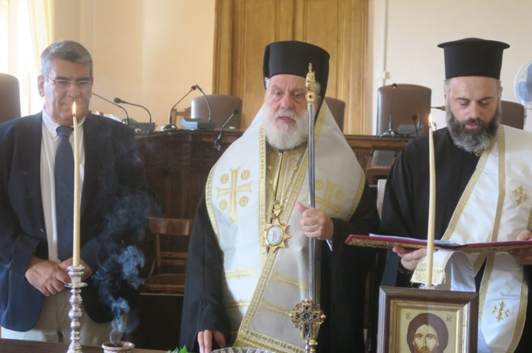 Αγιασμός για το νέο Δικαστικό έτος από τον Μητροπολίτη Σύρου