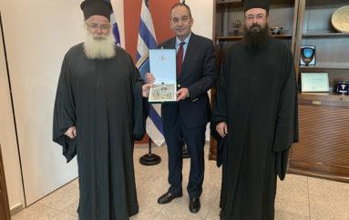 Συνάντηση Μητροπολιτών Πέτρας και Ιεραπύτνης με τον Υπουργό Ναυτιλίας