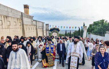 Υποδοχή της Παναγίας Γοργοϋπηκόου στην Ι. Μονή Θεοσκεπάστου Σοχού