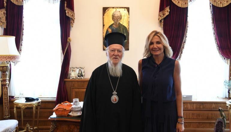 Στον Οικουμενικό Πατριάρχη η Μαρέβα Γκραμπόφσκι – Μητσοτάκη