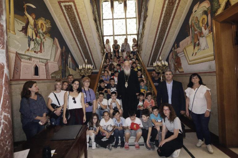 Μαθητές Δημοτικού από την Καλαμπάκα στον Αρχιεπίσκοπο