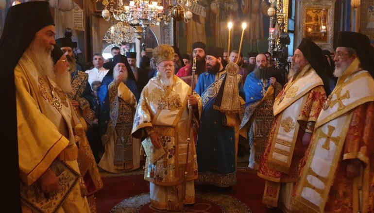 Πατριαρχική Θεία Λειτουργία στην Ι. Μονή Ξενοφώντος