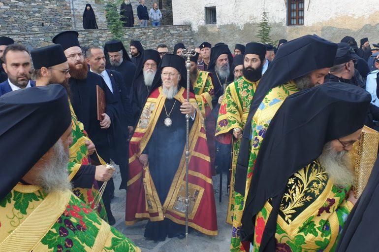 Ο Οικουμενικός Πατριάρχης στις Καρυές του Αγίου Όρους