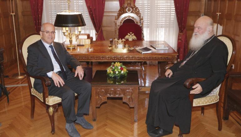 Συνάντηση Αρχιεπισκόπου με τον Πρέσβη του Ισραήλ