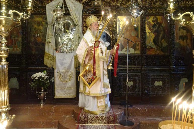 Ο Μητροπολίτης Κορίνθου στην Ι. Μονή Παναγίας Φανερωμένης Χιλιομοδίου