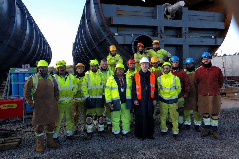 Ο Μητροπολίτης Σουηδίας σε μονάδα ανακύκλωσης στο Γιόνσεπιγκ