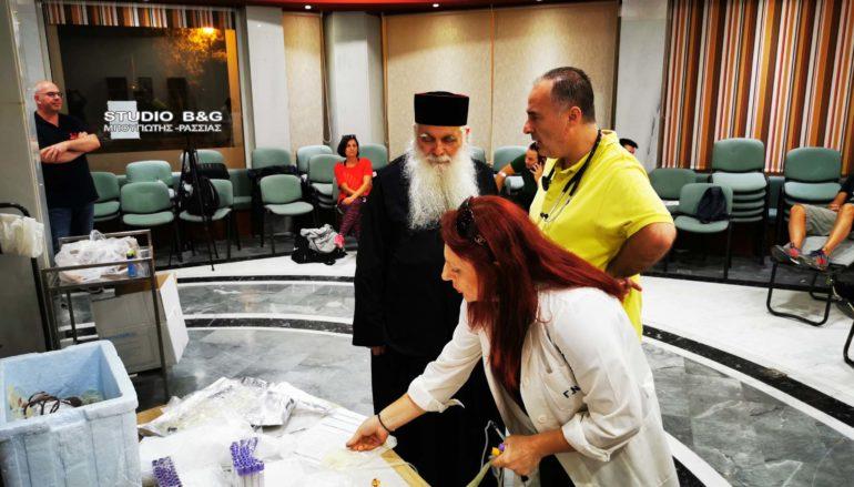 Ο Μητροπολίτης Αργολίδας σε εθελοντική αιμοδοσία στο Ναύπλιο