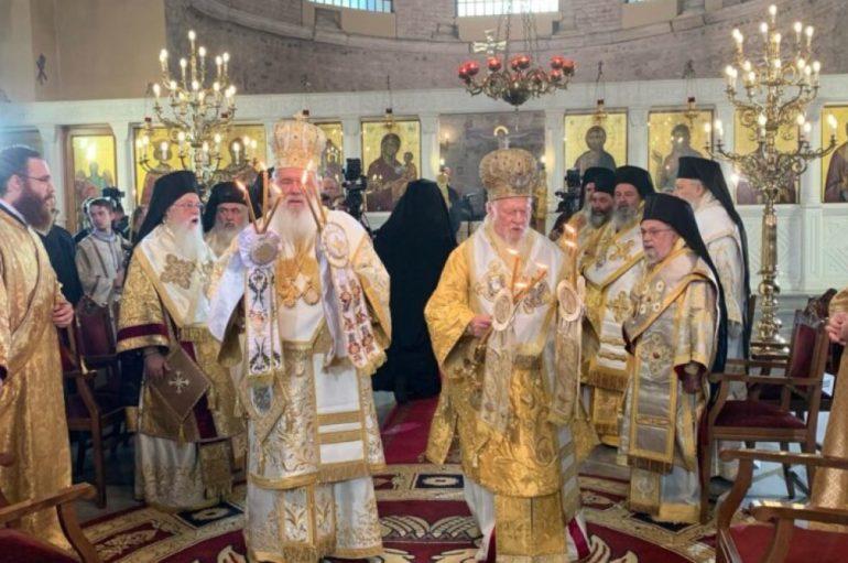 Μνημόνευση του Ουκρανίας Επιφάνιου από Βαρθολομαίο και Ιερώνυμο