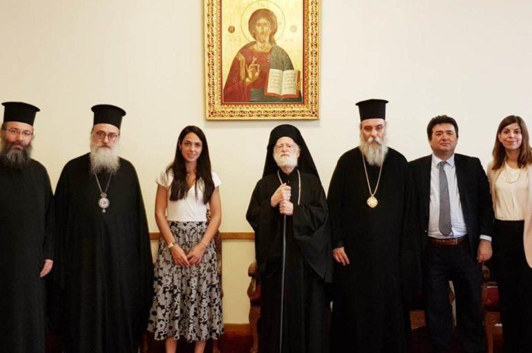 Αντιπροσωπεία της Εκκλησίας της Κρήτης με την Υφυπ. Κοινωνικών Υποθέσεων