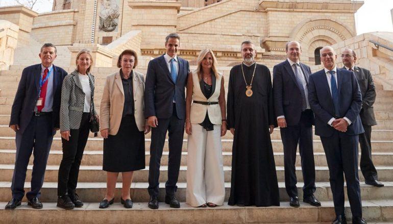 Στην Ιερά Μονή του Αγίου Γεωργίου στο Κάιρο ο Πρωθυπουργός