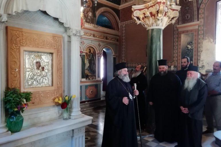 Επίσκεψη του Μητροπολίτου Μάνης στην Ιερά Μονή Βουλκάνου