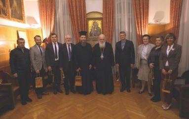 Φοιτητές της Ελληνικής Βιβλικής Εταιρίας στον Αρχιεπίσκοπο