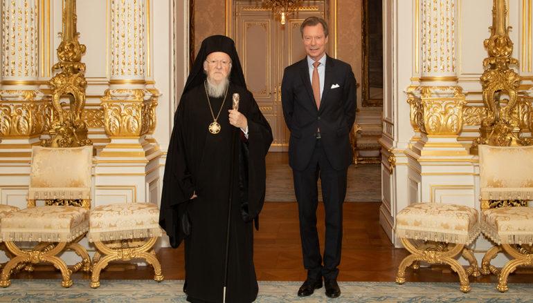 Ο Οικ. Πατριάρχης στον Μέγα Δούκα Henri του Λουξεμβούργου