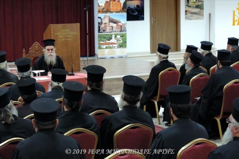 Ιερατική Σύναξη Νοεμβρίου στην Ιερά Μητρόπολη Άρτης