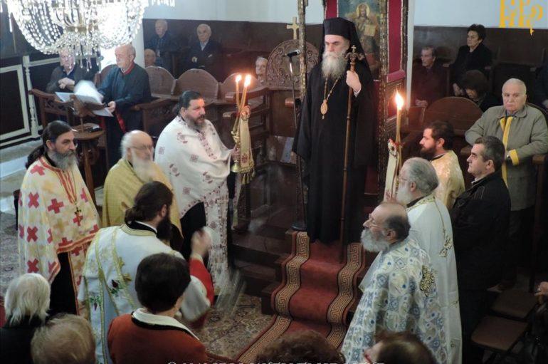 Πανηγυρικός Εσπερινός του Αγίου Μερκουρίου στο Επισκοπείο Άρτης