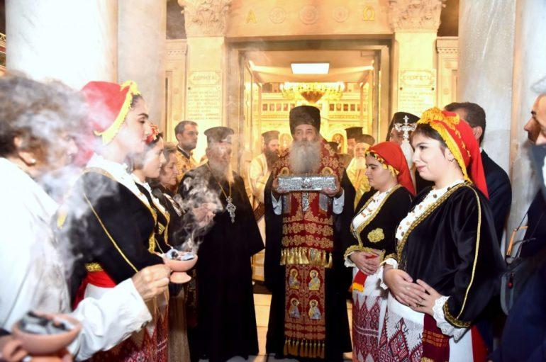 Ο Πειραιάς υποδέχθηκε την χείρα του Αγίου Σπυρίδωνος