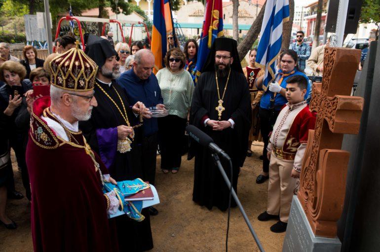 Αποκαλυπτήρια Μνημείου για τη Γενοκτονία των Αρμενίων στην Καλαμάτα