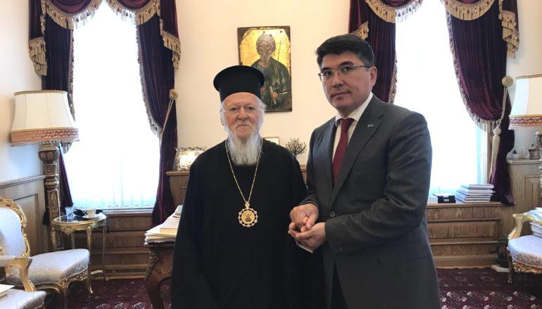 Ο Πρόεδρος του Οργανισμού Διαθρησκειακού Διαλόγου του Καζαχστάν στον Οικ. Πατριάρχη