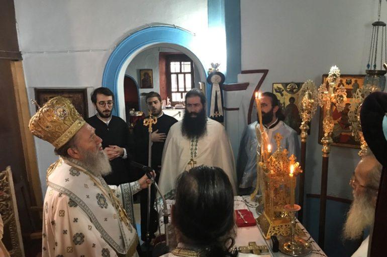 Ο Μητροπολίτης Χαλκίδος στην Ι. Μονή Αγίου Γεωργίου Ηλίων