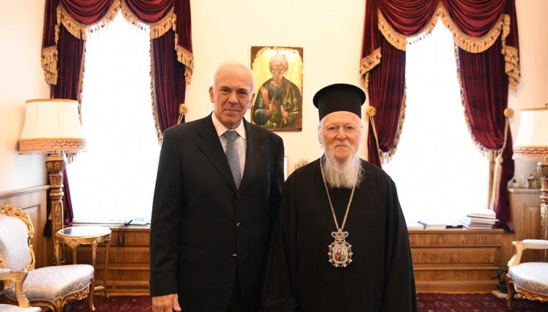 Ο νέος Πρέσβης της Ελλάδος στην Άγκυρα επισκέφθηκε το Οικ. Πατριαρχείο