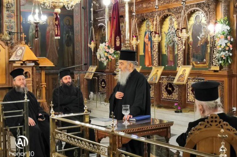 Ο Μητροπολίτης Γόρτυνος ομιλητής στον Ι. Ναό Αγίου Ελευθερίου Αχαρνών