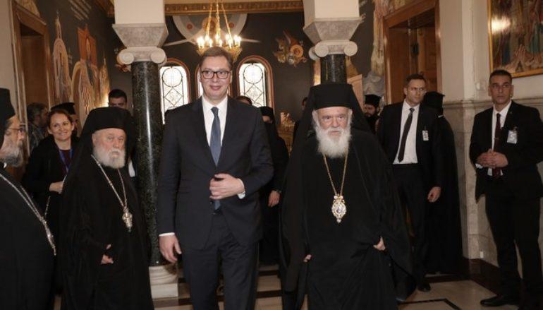 Συνάντηση Αρχιεπισκόπου με τον Πρόεδρο της Σερβίας
