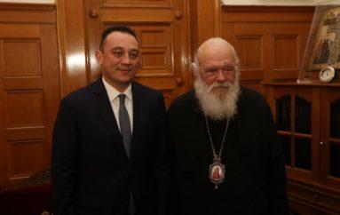 Στον Αρχιεπίσκοπο Ιερώνυμο ο ΥΦΥΠΕΞ Κώστας Βλάσης