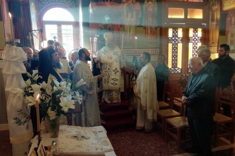 Αρχιερατική Θεία Λειτουργία στο Φλομοχώρι Μάνης